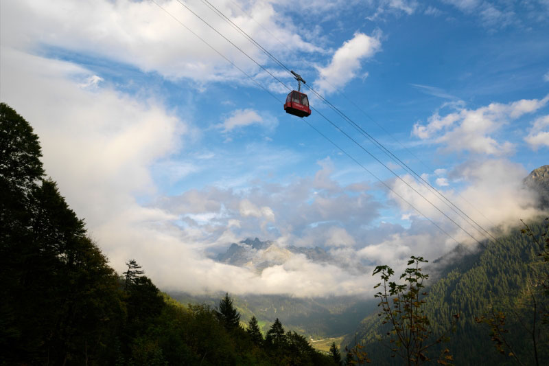 Talli cable car near Meiringen