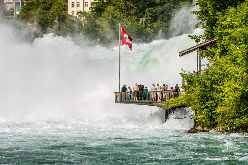 Viewing platform at the Rhine Falls