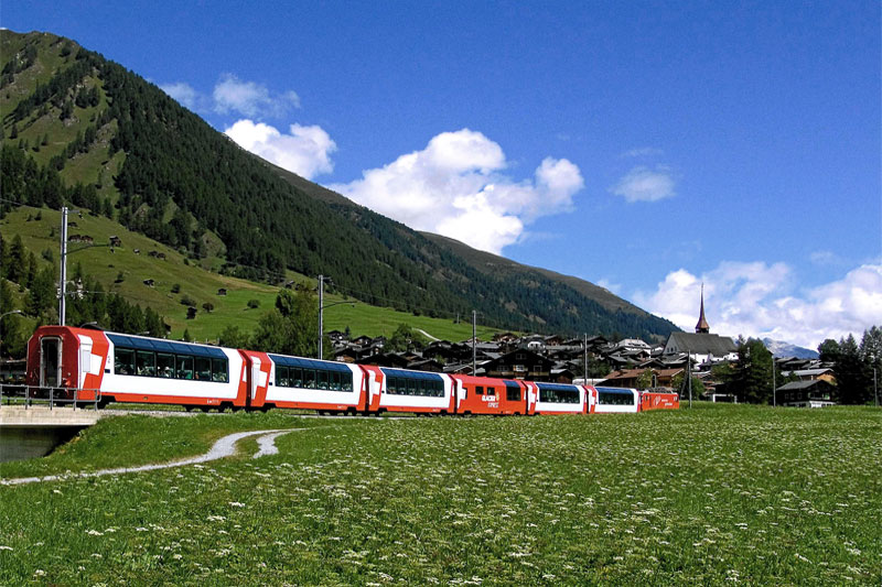 Glacier Express in the Goms Valley