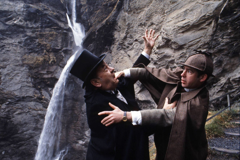 Holmes re-creation at the Reichenbach Falls