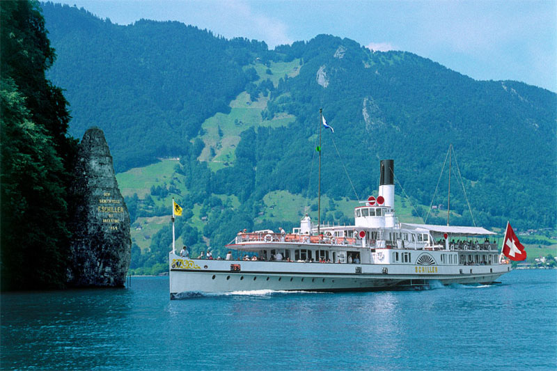 The Schiller Stone memorial on Lake Lucerne