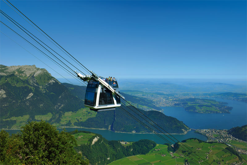 Open top CabriO cable car, Stanserhorn