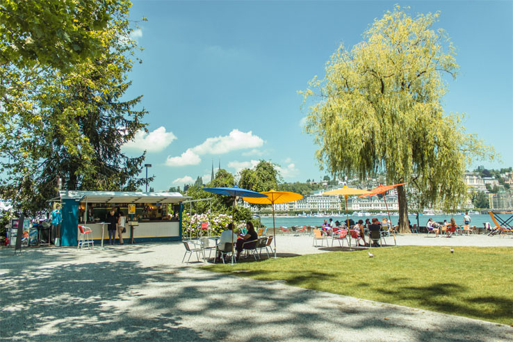 Lakeside café in Lucerne