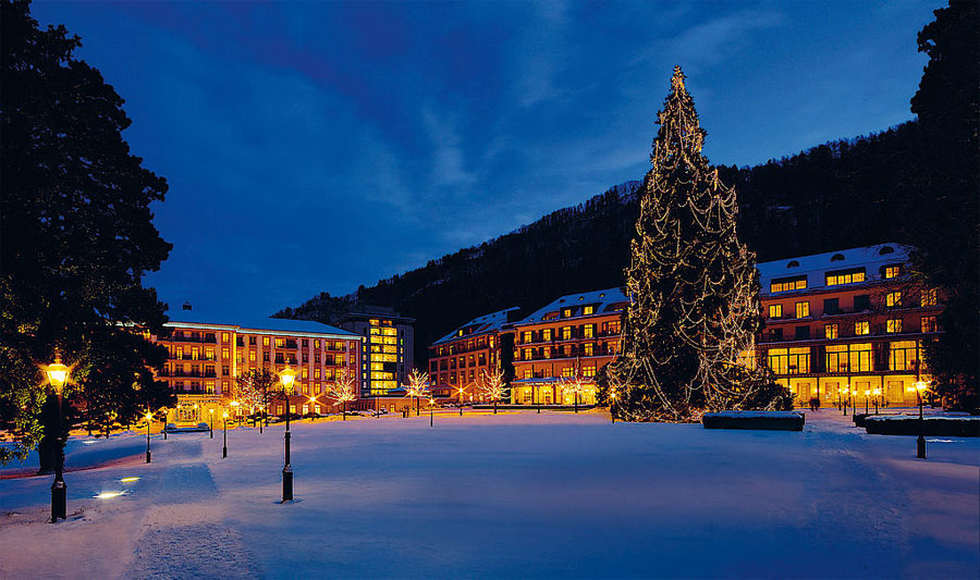 A winter view of Bad Ragaz