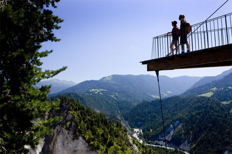 Viewing platform over the Rhine Gorge
