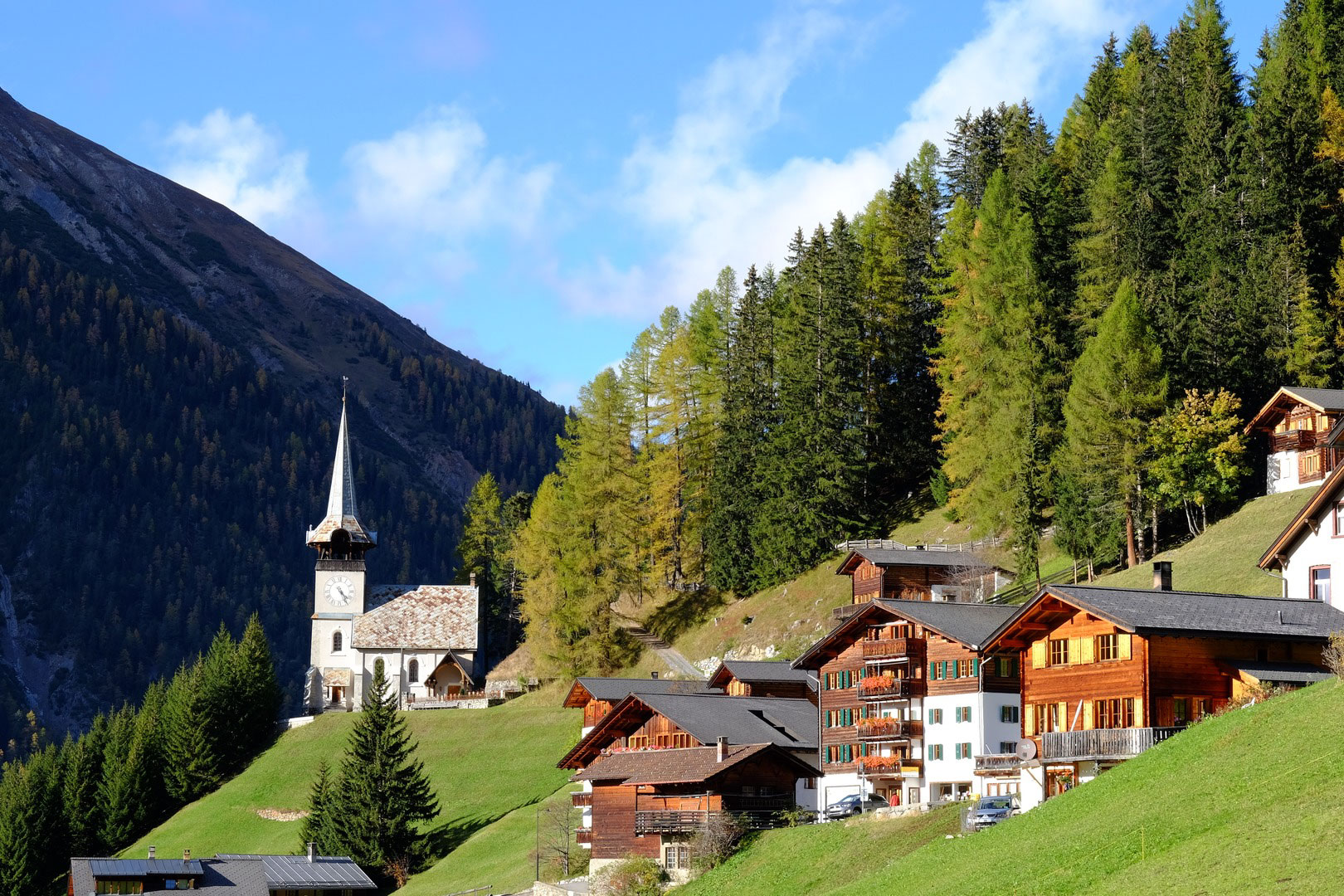 Monstein village, Rinerhorn area