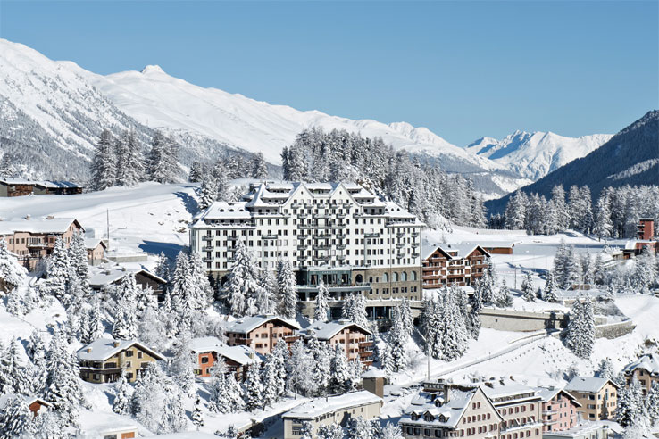 Winter view of St. Moritz