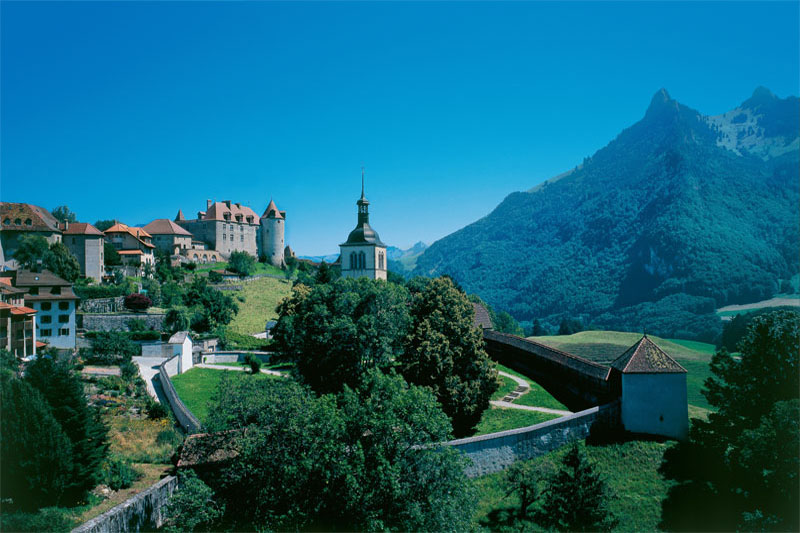 View of Gruyères castle