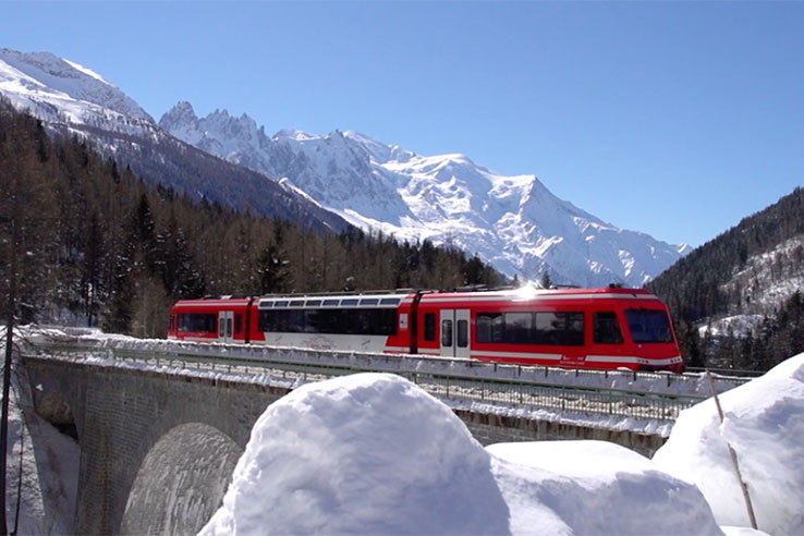 Mont Blanc Express in winter
