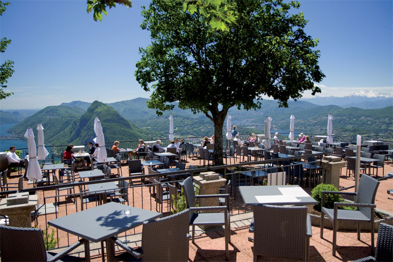Monte Brè mountain top restaurant