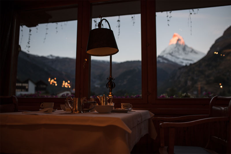 View of the Matterhorn with your breakfast