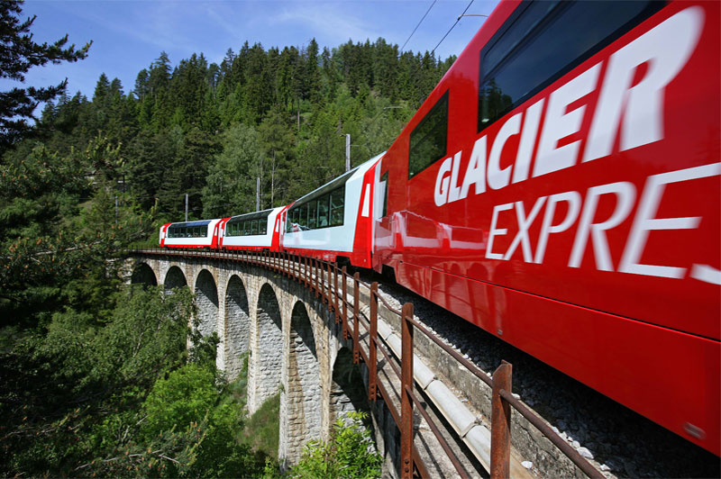 The famous Glacier Express