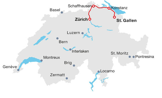 Route of the Lake Constance line