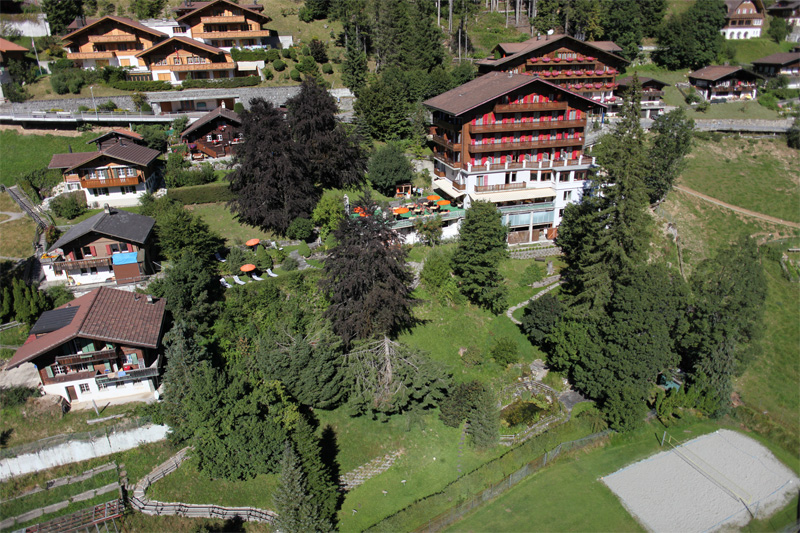 The hotel has a central position in the village