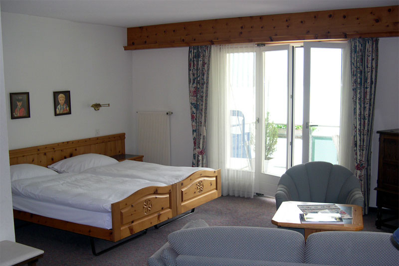 Example of a lake view room at the Seiler au Lac