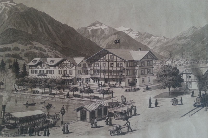 Image of the hotel in 1945