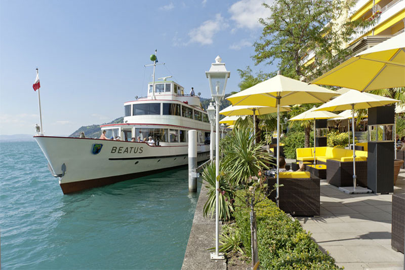 You can take a lake cruise or relax on the terrace and enjoy the views