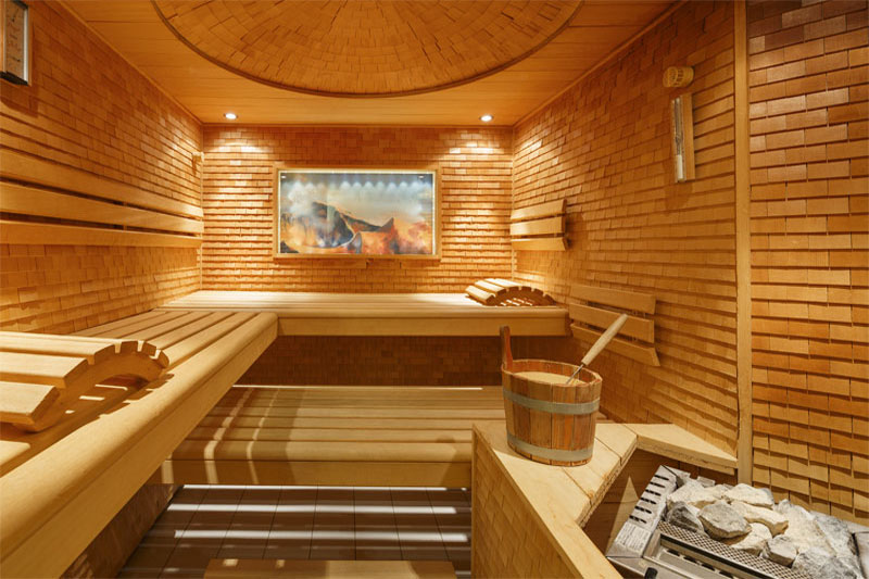 Relax in the sauna after a day's wallking
