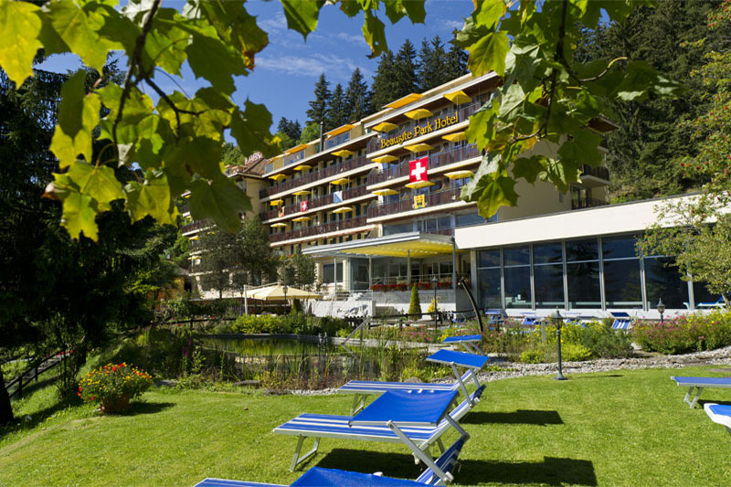 The stylish Beausite Park in Wengen