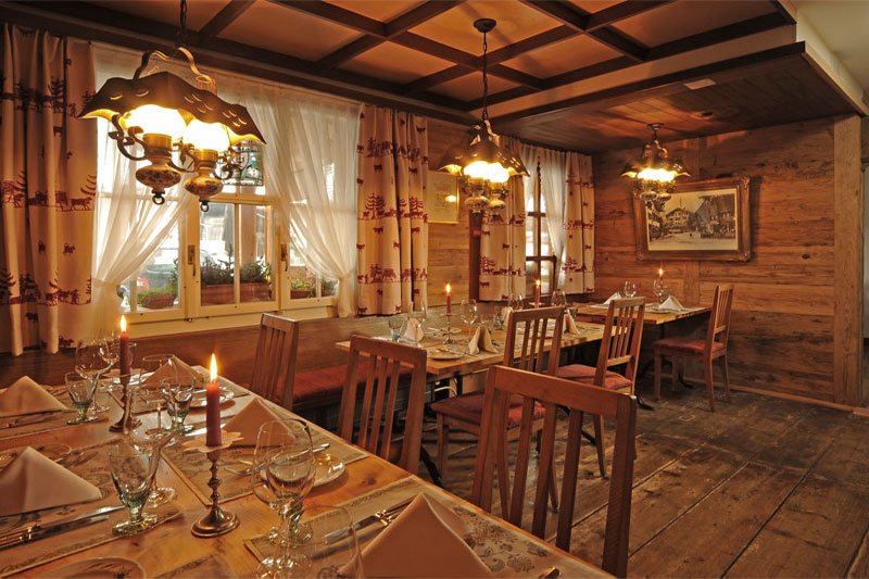 You can dine in the Bistro restaurant