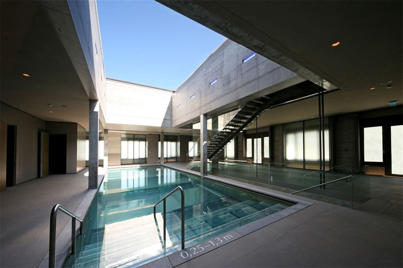The hotel has a modern fitness suite and pool