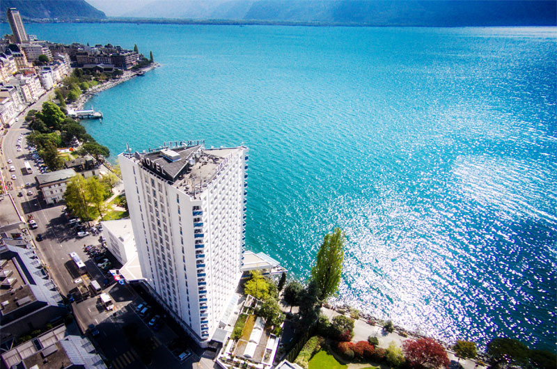 Eurotel, on the shore of Lake Geneva