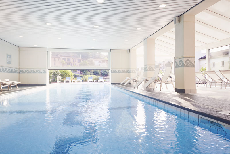 An indoor pool to enjoy year round