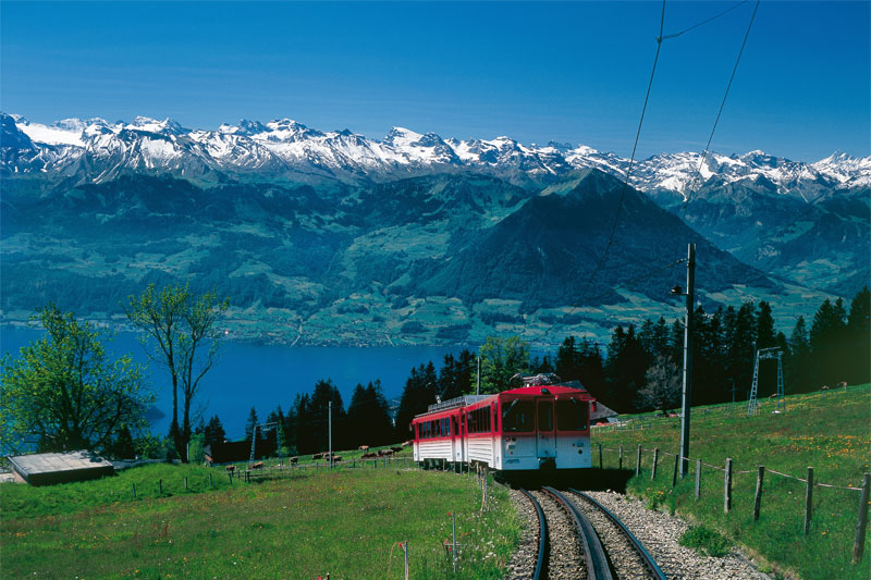 Great views from the Rigi train