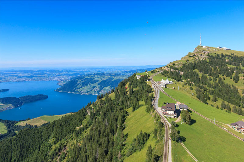 View over Rigi and Lake Lucerne