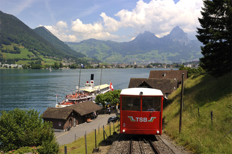 Funicular from the lake to Seelisberg