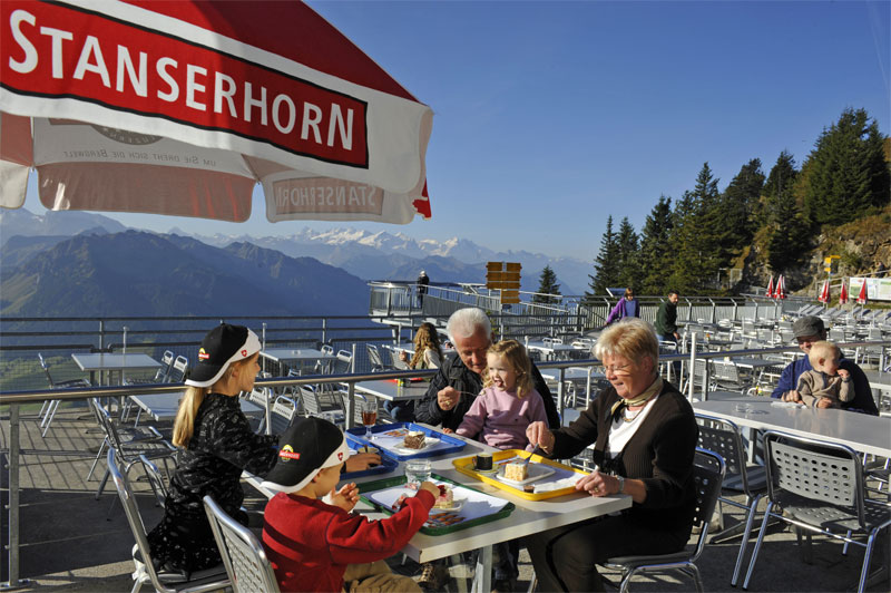 Stanserhorn mountain restaurant