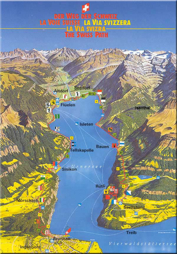 Map of the Swiss Trail