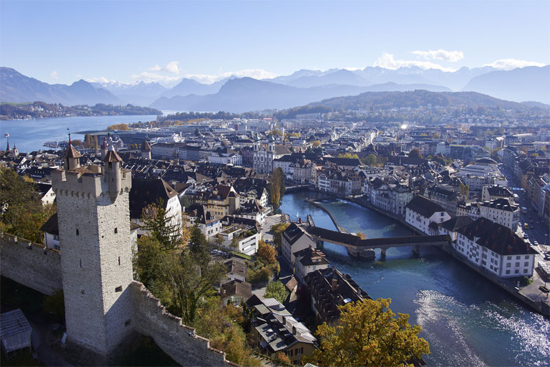 View over Lucerne