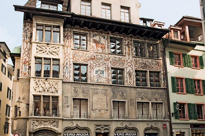 Historic building in Lucerne's Old Town