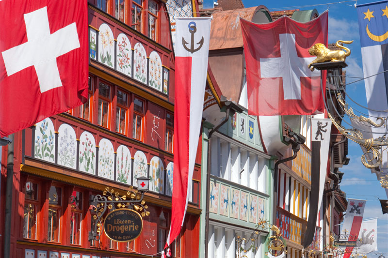 Traditional buildings in Appenzell