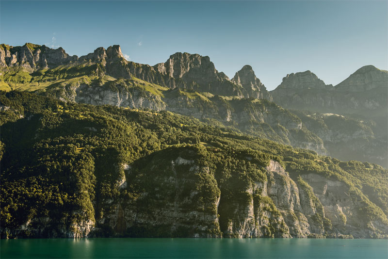Walensee with mountain backdrop