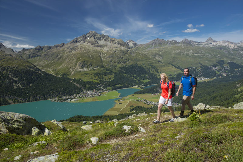 Walking in the Corvatsch region