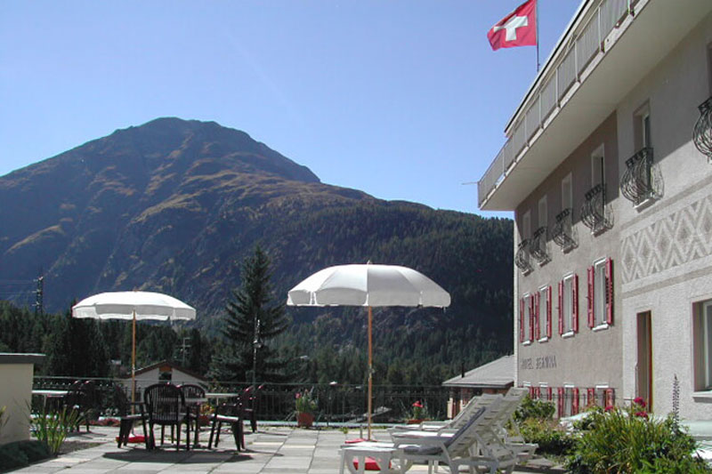 Hotel Bernina, terrace