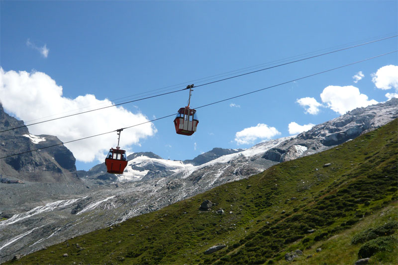 Spielboden cable car