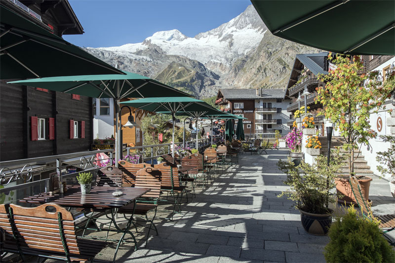 Sunstar hotel Saas-Fee, terrace