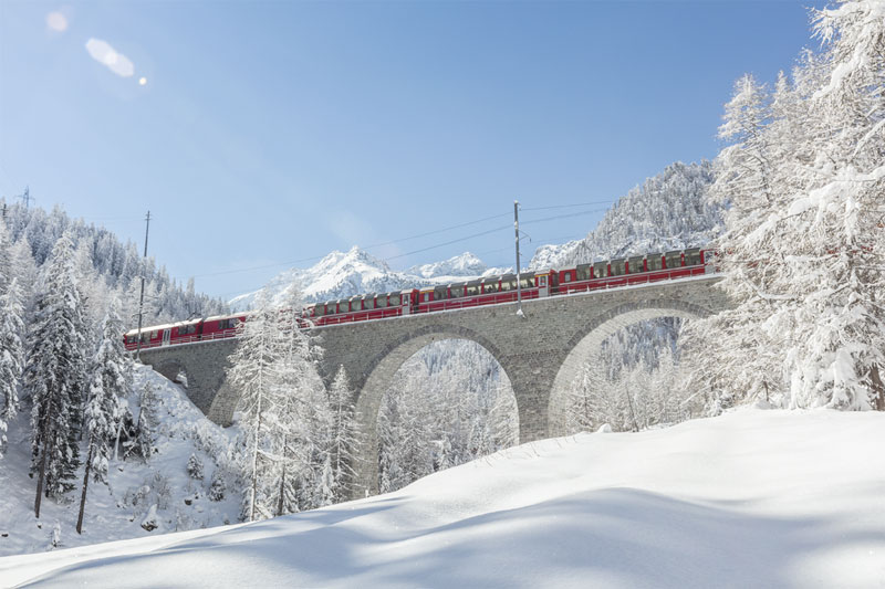Bernina Express - winter