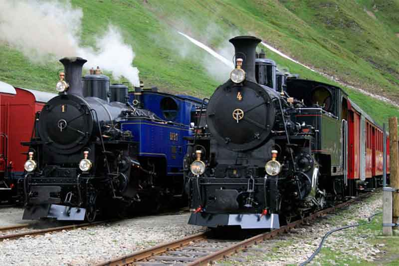 Heritage steam trains Furka Line