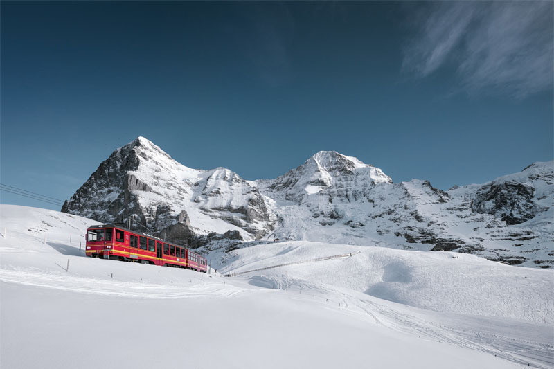 Jungfraubahn in winter