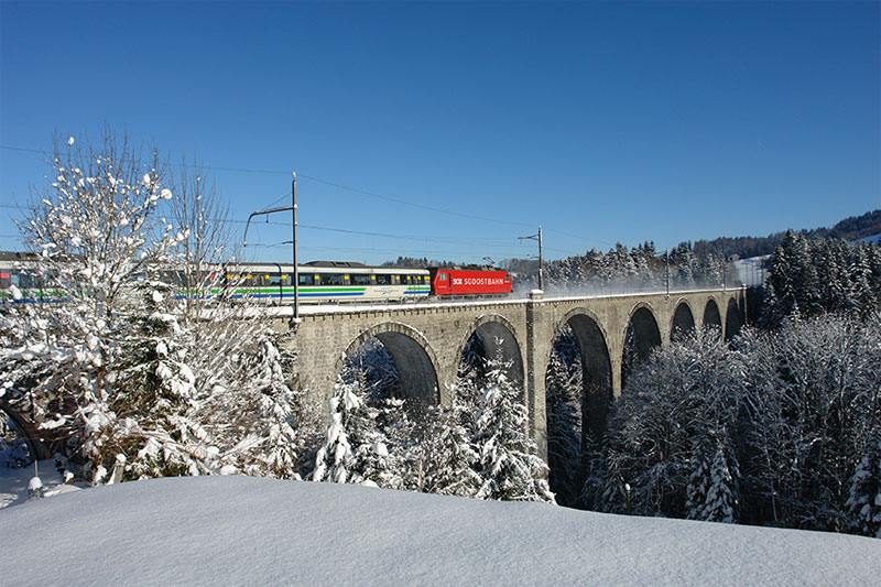 A winter's view of the Pre-Alpine Express