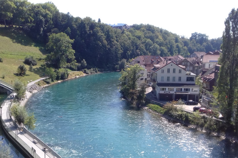 Aare river in Bern
