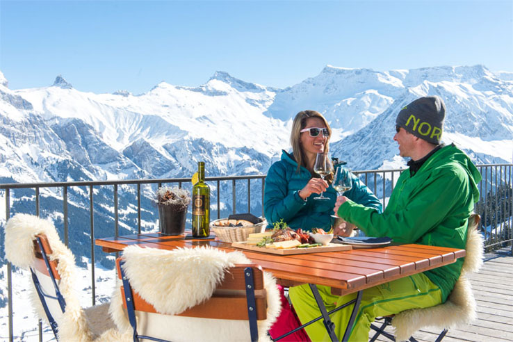 Mountain restaurant near Adelboden