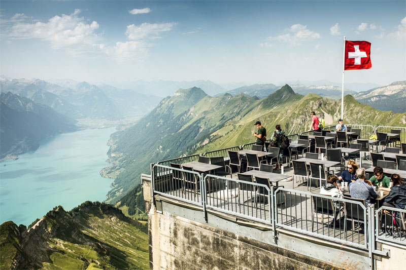 Terrace at the Brienzer Rothorn
