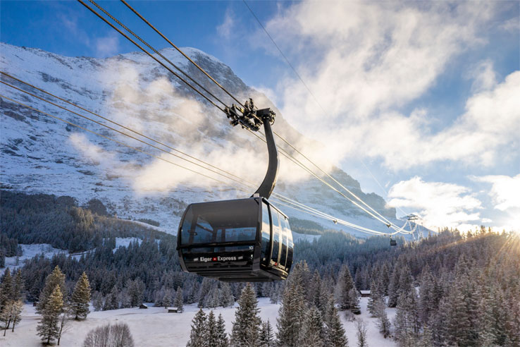 Eiger Express in winter