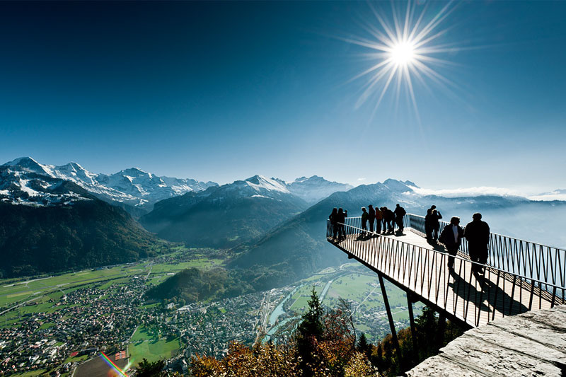 Harder Kulm viewing bridge