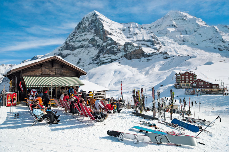 Kleine Scheidegg in winter